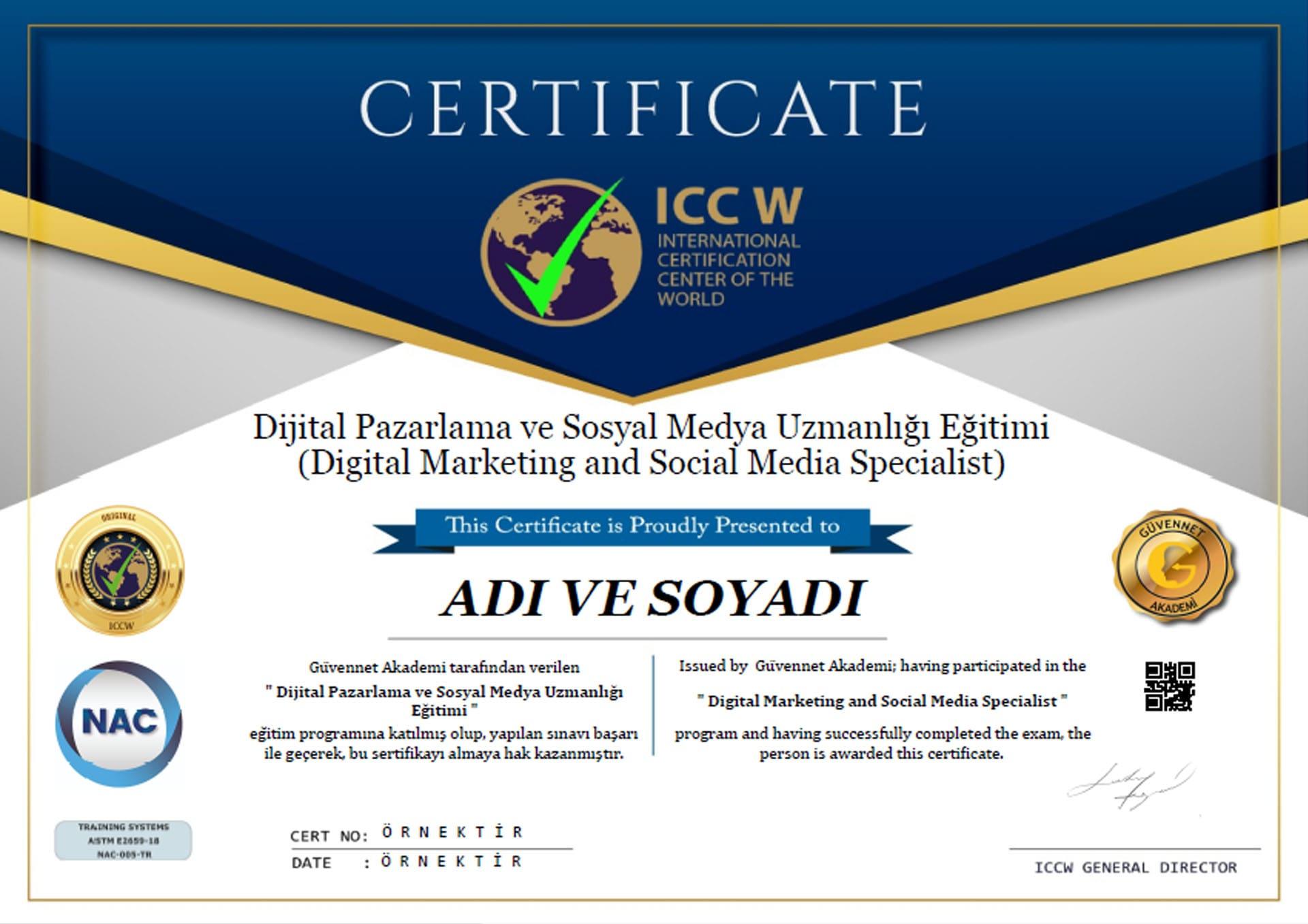 iccw sertifika